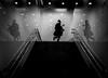 DSCF4121 (stuttgart_san) Tags: street candid streetshot tokyo japan subway stairs rush rushhour bnw bw symmetry reflection