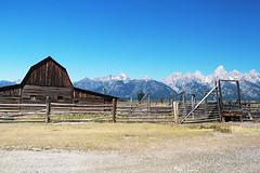 Mormon Row - HFF (RPahre) Tags: fence hff tetons grandtetons grandtetonnationalpark wyoming bluesky mormonrow
