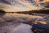 I have a dream 冬之梦 (Dahai Z) Tags: ndfilter carpentersville carpentersvilledam foxriver illinois kanecounty longexposure sunset water reflection winter2016 clouds ice