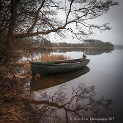 Foggy Morning on the Lake of Menteith (silverlarynx) Tags: scotland trossachs fog mist boat lake menteith