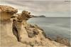 Formas caprichosas (Los Escullos - Almería) (Jose Manuel Cano) Tags: acantilado roca rock losescullos almería españa spain nikond5100 mar sea paisaje landscape costa coast cabodegata mediterráneo