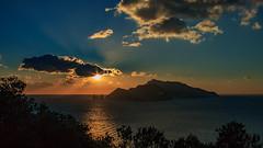 Punta Campanella - Isola di Capri al tramonto