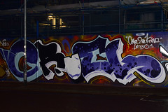 CRUEL by AROE (Di's Free Range Fotos) Tags: aroe graffiti brighton cruel documenting night nighttime nightphotography city