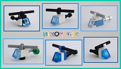 6 ways to build a micro helicopter (brickomotion) Tags: lego micro mini helicopter bom brickomotion police