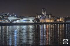 A mix of ages (alun.disley@ntlworld.com) Tags: liverpool waterfront rivermersey city worldheritagesite liverpoolanglicancathedral museumofliverpool thealbertdock weather reflections architecture night longexposure merseyside northwestengland uk portsandharbours