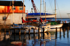 Crouch Harbour Moorings (cazphoto.co.uk) Tags: panasonic lumix dmcgx7 lensbaby sweet35 composerpro creativelens selectivefocus burhnamoncrouch essex 020117 boats sailing moorings building nautical architecture