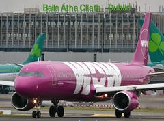 TF-KID - WOW Air A321 (✈ Adam_Ryan ✈) Tags: dub eidw 2017 dublinairport2017 wowair a321 tfkid purple