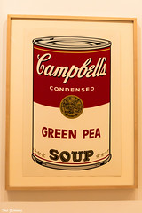 Campbell Soup Can (Thad Zajdowicz) Tags: zajdowicz pasadena california availablelight lightroom canon eos 5dmarkiii dslr digital primelens 50mm ef50mmf12lusm 5d3 andywarhol art silkscreen iconic campbellsoupcan 1968 modern color red museum nortonsimon creativecommons indoor inside text letters words writing type