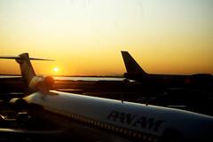 Sunset at JFK (craigsanders429) Tags: sunsetphotography sunsets sunset newyorkcity newyork newyorkkennedyairport johnfkennedyinternationalairport panamericanworldairways panam boeing727 727 airports aircraft airliners airplanes jets jetliners