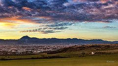 Clermont-Ferrand Sunset (cleostan) Tags: clermont ferrand clermontferrand cloud ciel bleu jaune rouge sky sunset auvergne france puydedome vert champ maison house 2017 janvier wordp