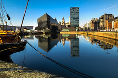 BRYAN_20161129_IMG_0286 (stephenbryan825) Tags: albertdock canningdock liverpool mannisland planetliverpool portofliverpoolbuilding royalliverbuilding buildings dock reflection selects threegraces water