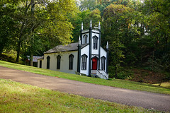 (farenough) Tags: old mississippi church grand gulf military park restored architecture carpenter gothic catholic sanctuary temple claiborne river ghost town 1868 sacred heart rodney forgotten history photo wander explore
