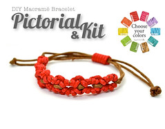 PDF Pictorial and Kit DIY Easy Macrame Bracelet (Raquel's Designs) Tags: diy micro macrame tutorials margaretenspitze