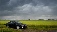 After the thunderstorm - Alfa Romeo 159 - series 2 of 3 (pwsonline) Tags: summer wet rain contrast fuji emotion pentax takumar sommer 28mm nat 200iso zomer adapter m42 alfa romeo fujifilm thunderstorm kiwi smc kontrast gewitter regen nass 159 onweer f35 alfisti hss onweersbui xe1 emotie pdraad pwsonline sliderssunday