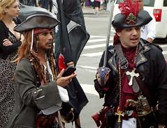 Mermaid Parade 2015   DSC03097 (waitingfortrain) Tags: nyc newyorkcity costumes brooklyn pirates johnydepp summerparades coneyislandmermaidparade2015 mermaidparade2015