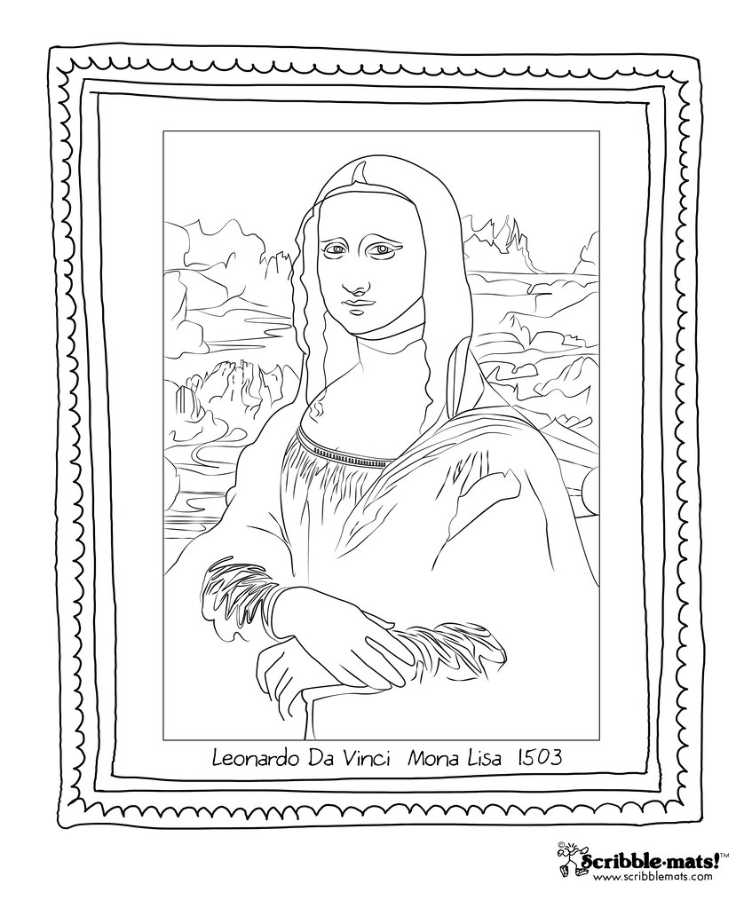 the world's best photos of coloringpage and scribbletown - flickr ... - Mona Lisa Coloring Page Printable