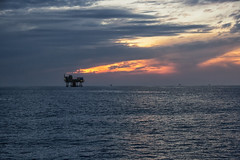 Offshore Platform (Shane Adams Photography) Tags: sunset sea gulfofmexico canon industrial offshore platform oilindustry canon6d ilobsterit