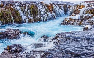 Icy Blue Cascades