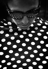 IMG_5195 (john fullard) Tags: nyc summer urban white newyork black underground subway metro july polkadots passenger dots iphone 2015 phoneshots iphone6