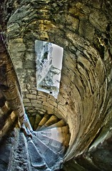 Portchester Castle (john elvidge) Tags: castle antique hampshire historical spiralstaircase portchester ultrawideangle stonestaircase
