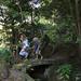 through the ryokan's garden