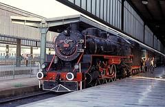 46223  Ankara  07.06.92 (w. + h. brutzer) Tags: analog train turkey nikon railway zug trains steam türkei ankara 46 dampflok lokomotive eisenbahnen tcdd dampfloks webru