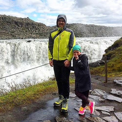 My & Elva at Dettifoss Iceland. #tourdeice #dettifoss #northiceland #nordurland #iceland