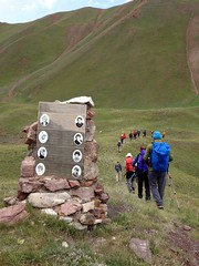 """Passing a memorial to the 8 Russian climbers • <a style=""""font-size:0.8em;"""" href=""""http://www.flickr.com/photos/41849531@N04/20264854419/"""" target=""""_blank"""">View on Flickr</a>"""