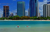 ... and stretch! (jcc55883) Tags: alamoanabeachpark alamoanaarea kakaako hawaii oahu skyline honolulu yoga ocean condos highrises construction buildings architecture nikon nikond3200 d3200 pacificocean