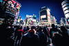 Day 365/366 : Shibuya Crossing (hidesax) Tags: 365366 shibuyacrossing passersby lights dusk intersection buildings yearend 2016 winter shibuya tokyo japan hidesax sony a7ii voigtlander 10mm f56 366project2016 366project 365project