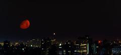 Midnight (explored) (Sandeep_Nigam) Tags: moonset redmoon moonillusion nighttime midnight