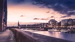 Bremen (klausi1983) Tags: bremen wasser water sky sunset sun light building architecture bridge city germany