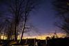 Kentucky Trees and Sky at Night (matthewkaz) Tags: night dark sky stars tree trees fence morehead rowancounty kentucky winter 2016