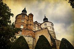 Au pied des Tours (.Sophie C.) Tags: châteaudesducsdewurtemberg montbéliard 25 doubs franchecomté château castle remparts photoshop texture pareeerica châtelderrière tour tower chateaufort