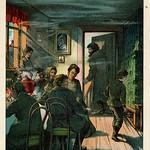 Jugend garten laube 1905kleurenlitho  f