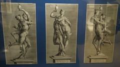 Three engravings based on one sculpture group by Adriaen de Vries (1595) (Elisa1880) Tags: leiden nederland netherlands adriaen de vries jan muller mercurius psyche engraving gravure