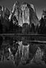 Cathedral Rocks Vista (Black & White, Yosemite National Park) (thor_mark ) Tags: aroundsunrise blackwhite blueskies canvas capturenx2edited cathedralchimney cathedralrocks cathedralrocksvista centralyosemitesierra colorefexpro day4 evergreens glassreflections highercathedralrocks highercathedralspires hillsideoftrees lakereflectionsonwater landscape lookingsw lowercathedralrocks lowercathedralspires middlecathedralrocks mountains mountainsindistance mountainsoffindistance nature nearsunrise nikond800e outside pacificranges pond portfolio project365 reflections reflectionsonlake reflectionsonwater sierranevada silverefexpro2 spiresgully trees triptopasoroblesandyosemite waterreflections waterreflectionsofmountains windowreflections yosemitenationalpark yosemitevalley yosemiterittersierranevada california unitedstates