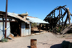 Vulture Mine (Midnight Believer) Tags: wickenburgarizona vulturemine americansouthwest abandoned abandonment decaying decrepit rural goldmine tinroof mainshaft mining decayed