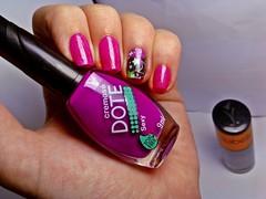 """Desafio Musical #9 - """"Beautiful Day"""" (Raíssa S. (:) Tags: esmalte unhas nails nailpolish naillacquer nail magenta pink cremoso dote vitabelle holográfico rosa"""