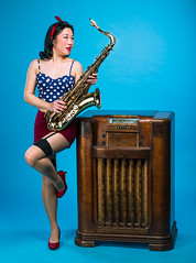 All we hear is radio ga-ga (Brian Copeland Photography) Tags: radio passtimesentertainment fashionphotography concert age pinup portrait portraitphotography musicalinstrument polkadot antique music saxophone model bust entertainment face headshot hobbies hobby leisure likeness passtime passtimes people person portraiture portrayal profile time hamilton ontario canada ca