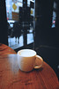 Coffee and away (allejandrine) Tags: coffee cup table cafe stillife bokeh street streetphotography