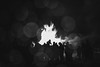 6 January 2017 (svartursaudur) Tags: 100xthe2017edition 100x2017 image3100 bw bonfire raindrops crowd people