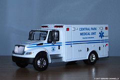International Durastar Ambulance  Central PArk Medical Unit (Gerard Donnelly) Tags: diecast ambulance 164 greenlight international drastar