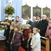 Neubauer Rudolf, Kismaros polgármestere (b3)és Harrach Péter (b4), a Kereszténydemokrata Néppárt frakcióvezetője, a rendezvény védnöke a málenkij robotra hurcoltak emlékére és tiszteletére tartott szentmisén Kismaroson, 2016. január 15-én.