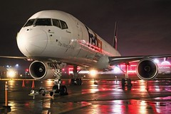 N773FD FedEx Express 757-222 at KCLE (GeorgeM757) Tags: n773fd fedexexpress 757222 clevelandhopkins kcle nightairplane n519ua aircraft alltypesoftransport aviation airport airfreight cargo night color georgem757