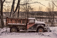 GMC Truck (gabi-h) Tags: gmctruck snow winter dilapidated gabih princeedwardcounty abandoned trees vehicle