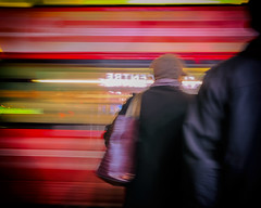 Cross Carefully (Fuji and I) Tags: ealing blur motion trafic street london night alexarnaoudov fujix