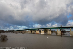 10th St. Bridge (Vurnman) Tags: california norcal yubacounty river featherriver levee flood 10thstbridge bridge clouds morning