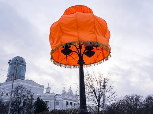 Уличный фонарь в Екатеринбурге.