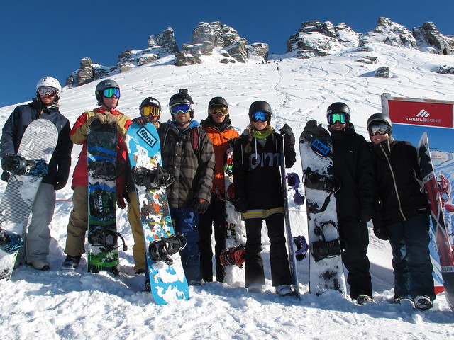 Mint Tours group on top of the Saddle Basin - Treble Cone, Wanaka NZ (4 August 2014)